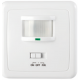 Detector de movimiento compatible con LED 160º empotrar pared en caja universal Elecman