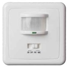 Detector de movimiento y sonido 160º empotrar pared en caja universal GSC