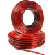 Rollo 100 metros cable paralelo de audio bicolor (Rojo Negro) 2x1mm