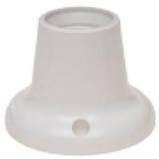 Portalámparas de superficie recto Blanco o Negro (a elegir) E27 Solera
