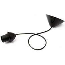 Pendel negro para luminarias de suspensión fija