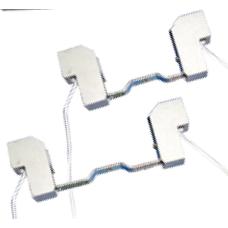 Portalámparas cerámico para lámpara  (bombilla) halógena lineal R7s 78 ó 118mm (a elegir)
