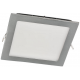 Downlight cuadrado empotrable LED 20W. color y tono de luz 6000K ó 4000K (a elegir)