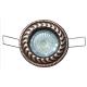 Aro empotrable basculante decorativo cenefa de zamak para dicroica halógena o led colores (a elegir)