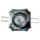 Aro empotrable basculante cuadrado decorativo de zamak para dicroica halógena o led colores (a elegir)