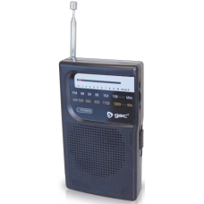 Radio vertical portatil 2xAA 118x28x70mm 2402596 GSC