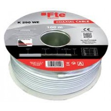 Bobina 100 metros cable coaxial K290WE 6,8mm Blanco FTE