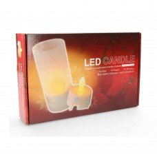 *ult.unidades*  vela luminosa con led recargable set de 4 unidades