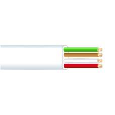 Cable telefonico plano 4 vias blanco edm    euro/mts