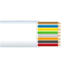 Cable telefonico 8  vias blanco    euro/mts