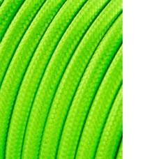 Cable cordon tubulaire 2x0,75mm fluor amarillo 5mts
