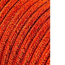 Cable cordon tubulaire 2x0,75mm marron brillante 25mts euro/mts