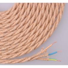 Cable  de cuerda de yute tejido y trenzado 3x0,75mm 25mts euro/mts