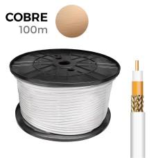 Cable coaxial apantallado 100% cobre edm euro/mts