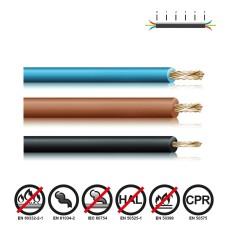 Cablecillo reforzado 2,5mm negro euro/mts