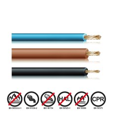 Cablecillo reforzado 2,5mm bicolor euro/mts