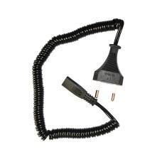 Cable recambio maquina afeitar braun-philips 1,8 m rizada