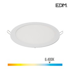 Downlight led empotrable 20w luz fria 6.400k 1500 lumens blanco edm