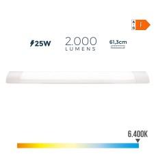 Regleta electronica led 25w 61cm 6.400k luz fria 2200 lumens edm