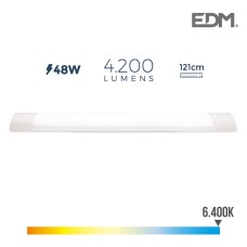 Regleta electronica led 48w 121cm 6.400k luz fria 4200 lumens edm