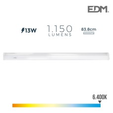 Regleta electronica led 13w 1050 lumens 86cm 6.400k luz fria edm