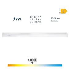 Regleta electronica led 7w 600 lumens 50,5cm 4.000k luz dia edm
