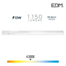 Regleta electronica led 13w 1050 lumens 86cm 4.000k luz dia edm