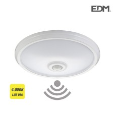 Aplique de superficie led con sensor 16w 1100 lumens 4.000k luz dia tiempo de apagado regulable edm