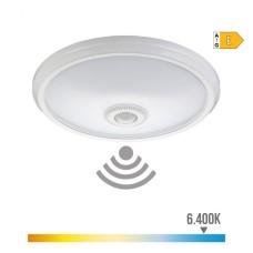 Aplique de superficie led con sensor 16w 1100 lumens 6.400k luz fria tiempo de apagado regulable edm