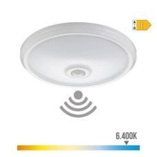 Aplique de superficie con sensor y luz de emergencia ip20 1100 lumens 16w 30 leds 6.400k luz fria edm
