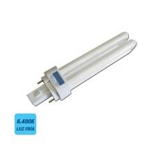 Bombilla bajo consumo g-24 d1 18w 6.400k luz  fria edm