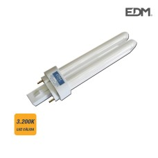 Bombilla bajo consumo g-24 d1 13w 3.200k luz calida edm