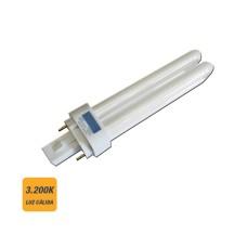 Bombilla bajo consumo g-24 d1 26w 3.200k luz calida edm