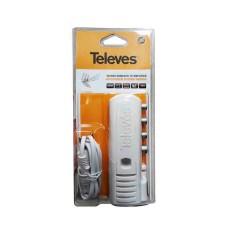 Amplificador interior una entrada tres salidas televes 220-240v