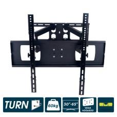 Soporte plasma/lcd/led de 30-65 pulgadas max.60kg articulado, dos brazos y oscilante negro edm