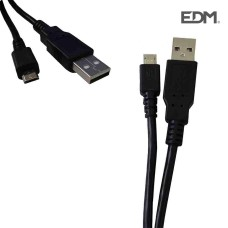 Cable conector de usb a micro usb 1,8m compatible samsung, sony, huawei, lg