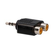 Adaptador jack 3,2mm macho a 2 x rca hembra (audio)