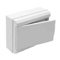 Caja con tapa para distribucion 1 a 4 icp + 8 elementos blanco 227x188x55mm