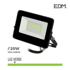 Foco proyector led  20w luz verde