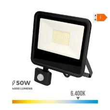 Foco proyector led  50w 6400k con sensor de presencia
