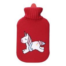 Bolsa de agua roja unicornio 2l