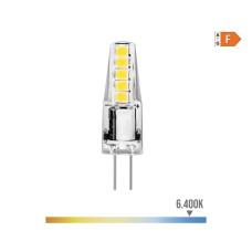 Bombilla bi-pin 12v led 2w 180 lumens 6.400k luz fria serie silicona edm