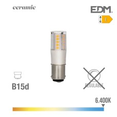 Bombilla bayoneta led 5.5w 6400k 230v 650lumens base ceramica  edm