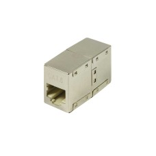 Adaptador cat. 6 rj45 para empalmar dos cables rj45 envasado
