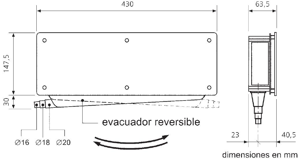 Caja empotrar preinstalaci n de aire acondicionado sin for Salida aire acondicionado